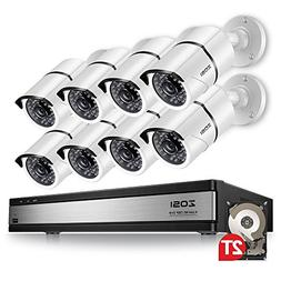 ZOSI 720p 16 Channel 8 Camera Security System,16 Channel Ful
