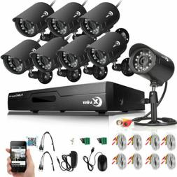 XVIM 8CH 1080N HDMI DVR Video 1500TVL Outdoor CCTV Home Secu