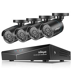 SANNCE 8CH 1080N HD DVR Security Camera System and  720P Nig