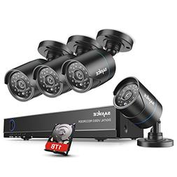 SANNCE 8CH 1080N DVR Security Camera System with 1TB Hard Dr