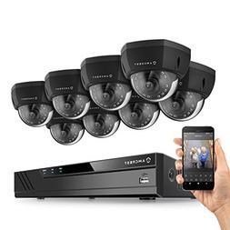 Amcrest 8CH Plug & Play H.265 6MP NVR 2MP 1080P Security Cam