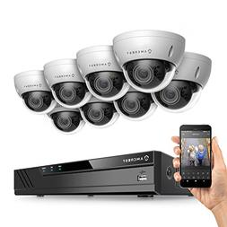 Amcrest 8CH Plug & Play H.265 6MP NVR 3MP 1536P Security Cam