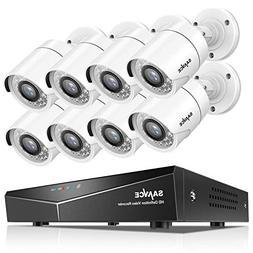 SANNCE 8CH HD-TVI Security Camera System, 1080N CCTV DVR wit