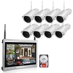 35437c32e2f Luowice 8CH Wireless Audio Security Camera System with Built