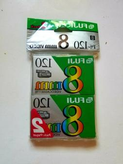 Fujifilm 8mm Videocassette P6-120 2 Pack New Factory Sealed