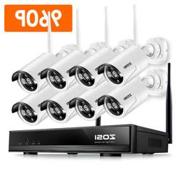 ZOSI H.265+ 1080p Wireless Security IP Camera System 3TB Har