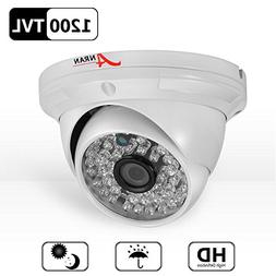 ANRAN HD 1200TVL 48 IR-LEDs High Resolution NTSC CCTV Camera