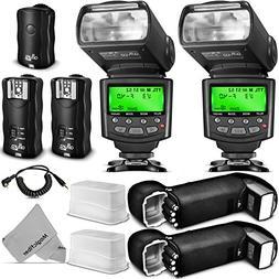 Altura Photo Studio Pro Flash Kit for Canon DSLR Bundle with