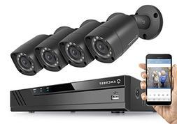 Amcrest HD 1080P-Lite 4CH Video Security System w/ Four 1.0