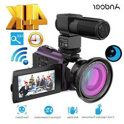 Andoer 4K 1080P 48MP WiFi Digital Video Handy Camera Recorde