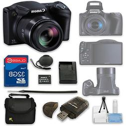 Canon PowerShot SX410 IS Digital Camera + 32GB High Speed SD