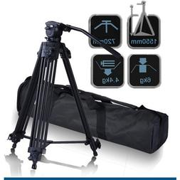 "CowboyStudio 62"" Pro Video Photo Aluminum Tripod Fluid Pan H"