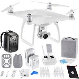 DJI Phantom 4 Quadcopter Drone w/ Hardshell Backpack + Spare
