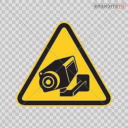Decal Camera Cctv Video Surveillance Sign Car window jet ski