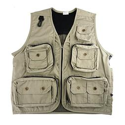 FoRapid Safari Photo Vest Photography Travel Hiking Fishing