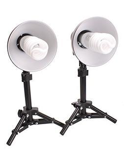 Fovitec - 2x Product Photography Fluorescent Lamp Lighting K