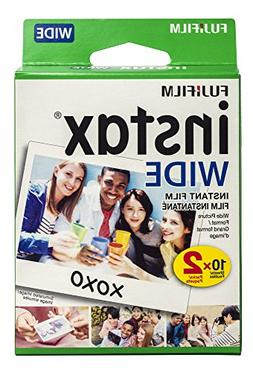 Fujifilm instax Wide Instant Film, 20 Exposures, White, New