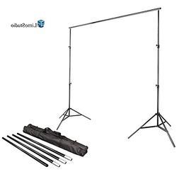 LimoStudio Photo Video Studio 10Ft Adjustable Muslin Backgro