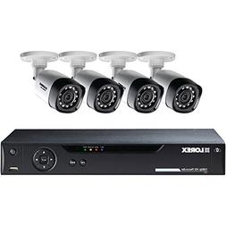 Lorex 8-Channel 4 Bullet Cameras w/ 1TB 1080p HD HDD DVR Sec