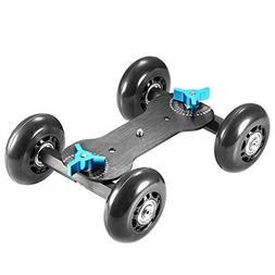 NEEWER Tabletop Mobile Rolling Slider Dolly Car Skater Video