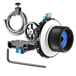 Neewer A-B Stop Follow Focus C2 with Gear Ring Belt for DSLR