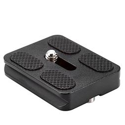 Neewer Black Metal PU-50 Universal Quick Release Plate Fits