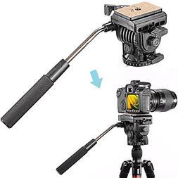Neewer Video Camera Tripod Fluid Drag Pan Head with 1/4 inch