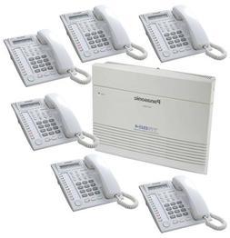 Panasonic KX-TA824 & 6 KX-T7730 White Phones