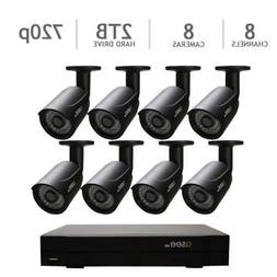 Q-See QC958-8Y5-2 8 Channel DVR Security System, 8 HD 720p C