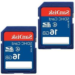 SanDisk 16GB Class 4 SDHC Flash Memory Card - 2 Pack SDSDB2L