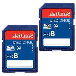 SanDisk 8GB Class 4 SDHC Flash Memory Card - 2 Pack SDSDB2L-