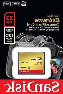 SanDisk Extreme SDCFXSB-032G-G46 32GB CompactFlash Memory Ca