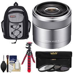 Sony Alpha E-Mount E 30mm f/3.5 Macro Lens with Backpack + 3