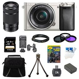 Sony Alpha a6000 24.3 Interchangeable Lens Camera Silver wit