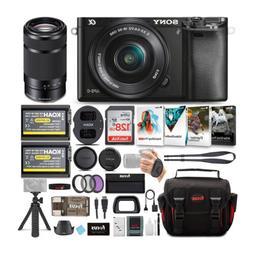 Sony Alpha a6000 Mirrorless Camera w/16-50mm & 55-210mm Lens