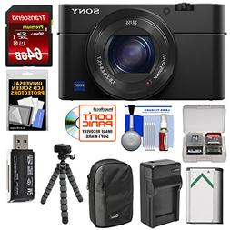 Sony Cyber-Shot DSC-RX100 IV 4K Wi-Fi Digital Camera with 64