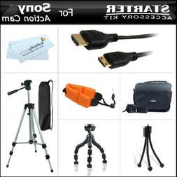 Starter Accessories Kit For Sony HDRAS100V/W, HDR-AS100V/W,