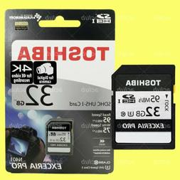 Toshiba Exceria Pro N401 32GB SDHC UHS-I Class 3 4K Video Ca