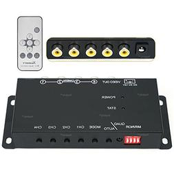 Toughsty™ 4Ch Mini Color Video Quad Splitter Multiplexer P