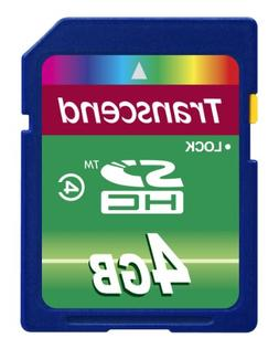 Transcend 4 GB Class 4 High Speed SDHC Flash Memory Card TS4