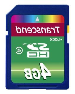 Transcend 4 GB Class 4 High Speed SDHC Flash Memory Card TS4