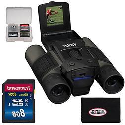 Vivitar 12x25 Binoculars with Built-in Digital Camera with 1