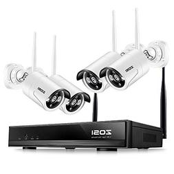 ZOSI Wireless Security Cameras System, 4CH 1080P HD WiFi NVR