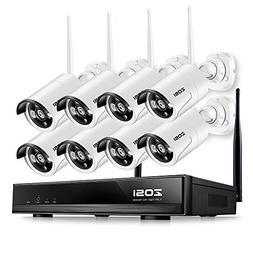 ZOSI 720p HD 1.0 Megapixel Wireless Outdoor Indoor Video Sur