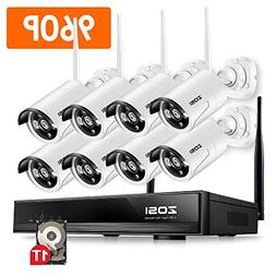 ZOSI 8CH Security Wireless Cameras System,8channel 960P WiFi