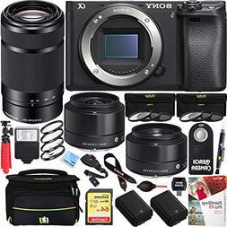 Sony a6500 4K Mirrorless Camera 55-210mm & Sigma 19 & 30mm P
