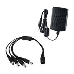 ANNKE  AC to DC 12V2A Security Power Supply Adapter +  1-to-