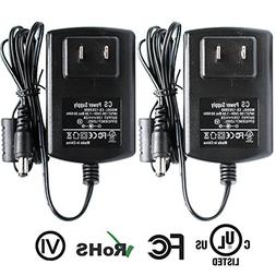 ANVISION 2-Pack AC to DC 12V 2A 24W Power Supply Adapter Bar