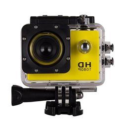 1080P Action Sports Camera -Self Timer,Tuscom Waterproof (