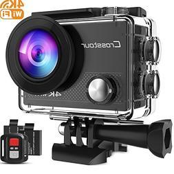 Crosstour Action Camera 4K WiFi Underwater Cam 16MP Sports C
